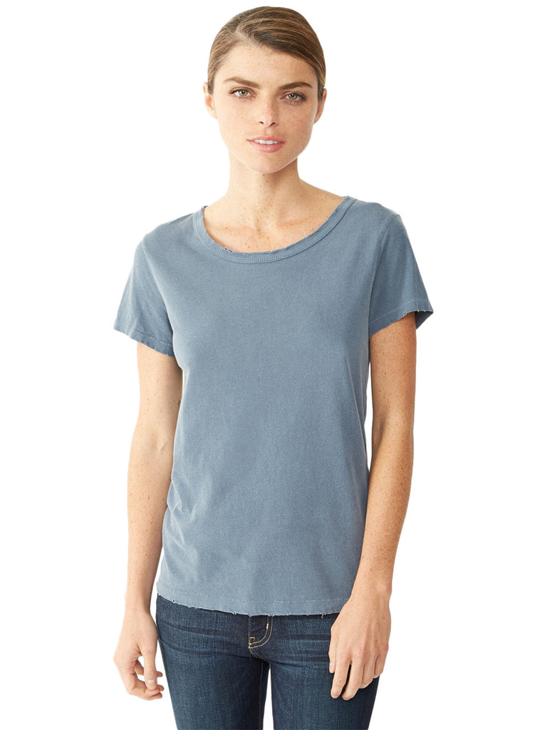 4860 Alternative Ladies' Distressed Tee in 100% Cotton