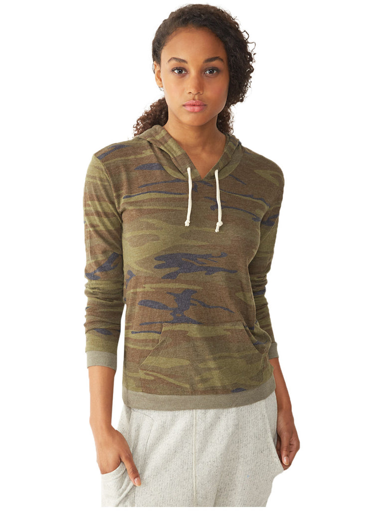 Alternative 1928 Ladies' Classic Pullover Hoodie in Eco-Jersey