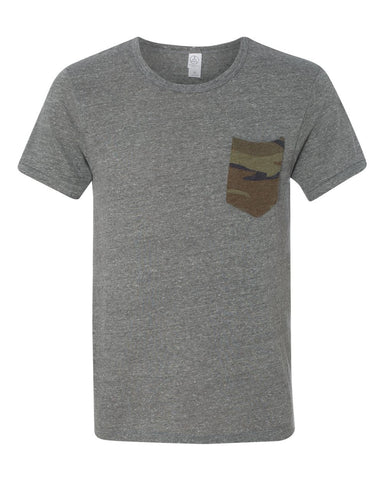 1939 Alternative Men's Short-Sleeve T-Shirt with Front Pocket