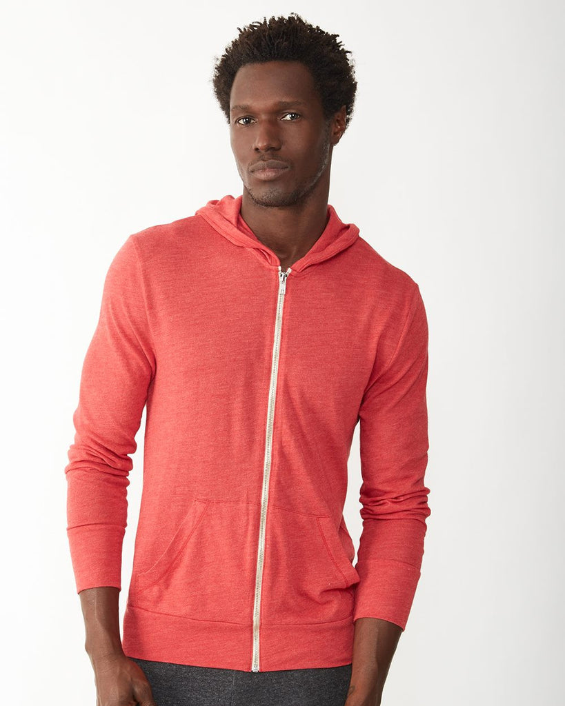 Alternative 1970e1 Unisex Full-Zip Hoodie in Eco-Jersey
