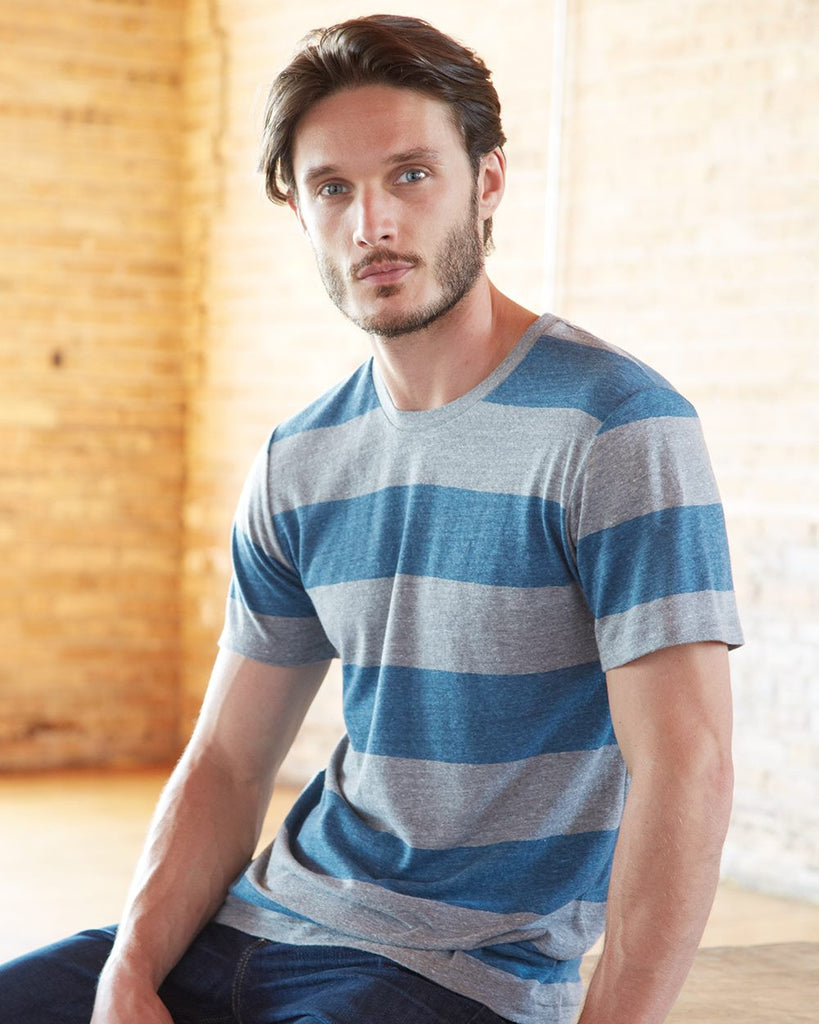 Alternative 1973 Wide Striped Classic Short-Sleeve T-Shirt