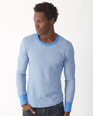 Alternative 4318 Men's Long-Sleeve Eco Thermal in Waffle Knit