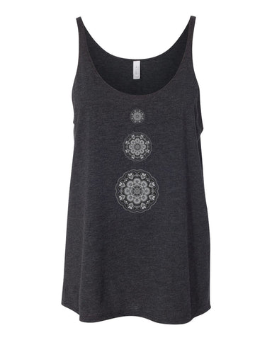 8838-IT Slouchy Soft Triblend Tank Tri Yoga Logo