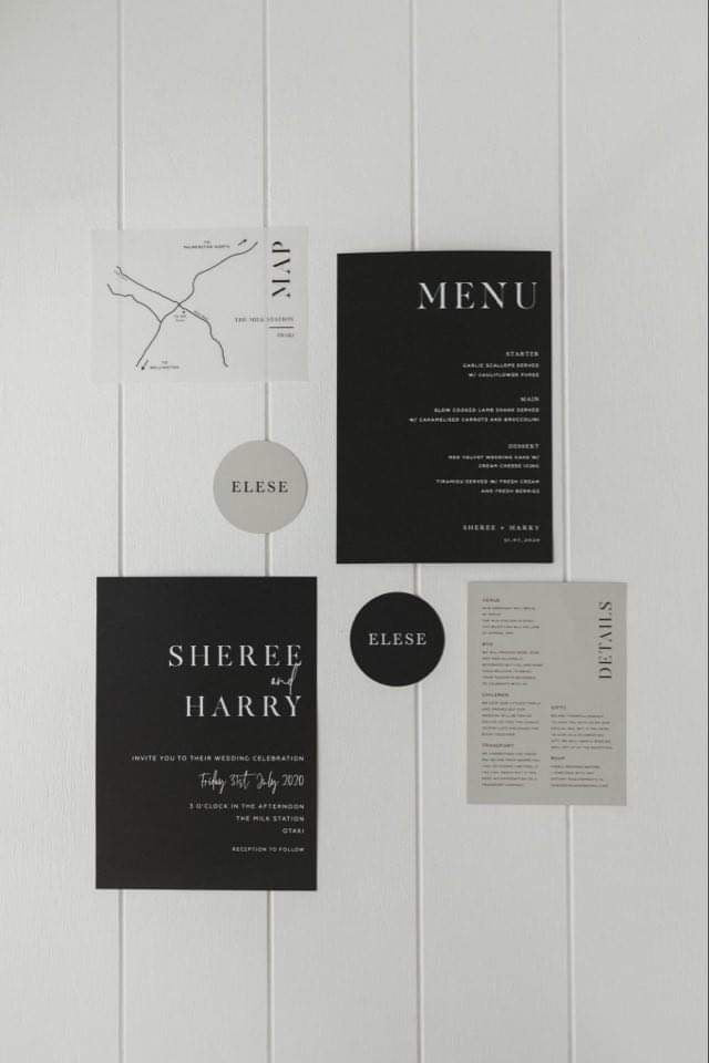 Stationery - invitations, menus, place cards