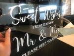 Acrylic - Candy Bar Sign