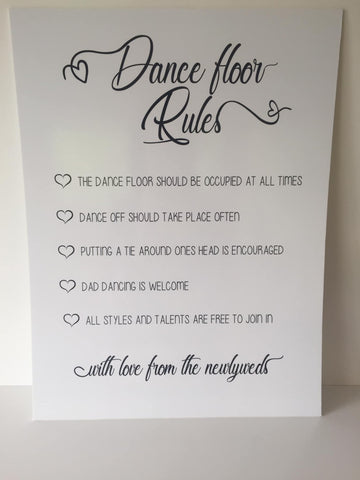 Printed - Dance Floor Rules