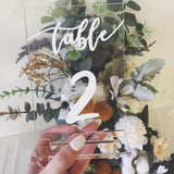 Acrylic Table Numbers - Rectangle
