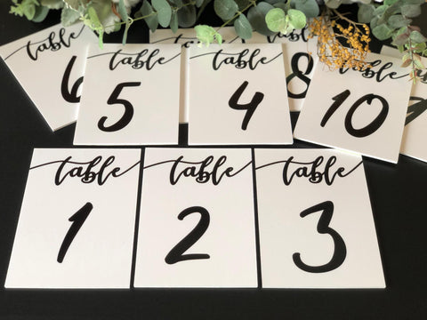 Printed- Table Numbers - Your choice of Design & Background or even personalized!