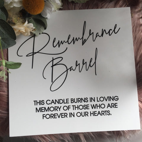 Printed- Memorial Sign - Your choice of background