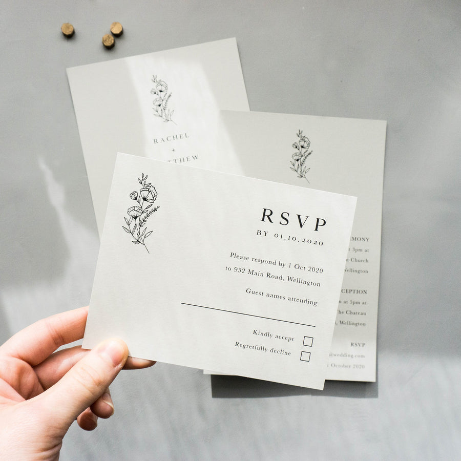 Match my set RSVP card