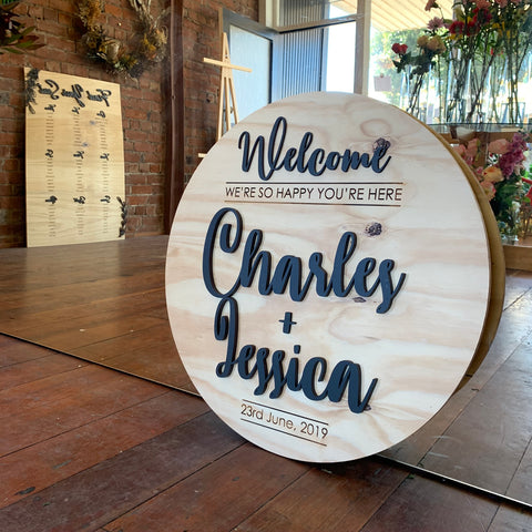 Welcome Sign - Circle