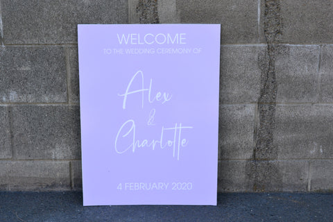 Ally Lee - Printed Welcome Sign