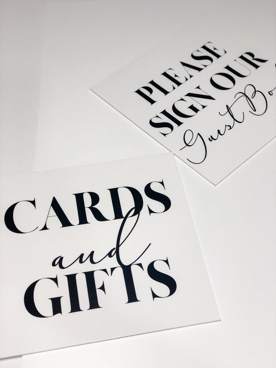 Acrylic - MADEN/ADORE Card and Gifts Sign- 3 colours