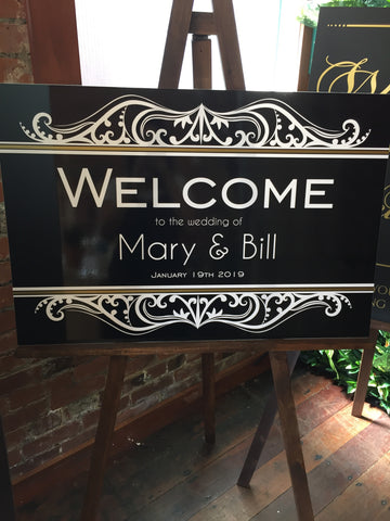 Printed - Classic Welcome Sign