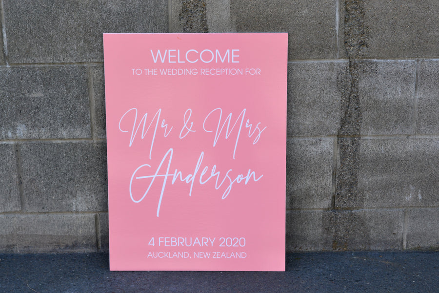 Ally Printed Welcome Sign
