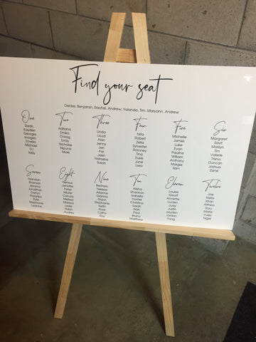 Printed - Seating chart