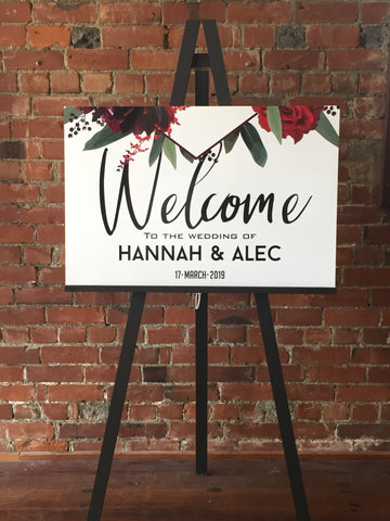 Printed - Red Vibes Welcome Sign
