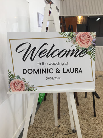 Printed -  Classic Welcome Sign - Floral