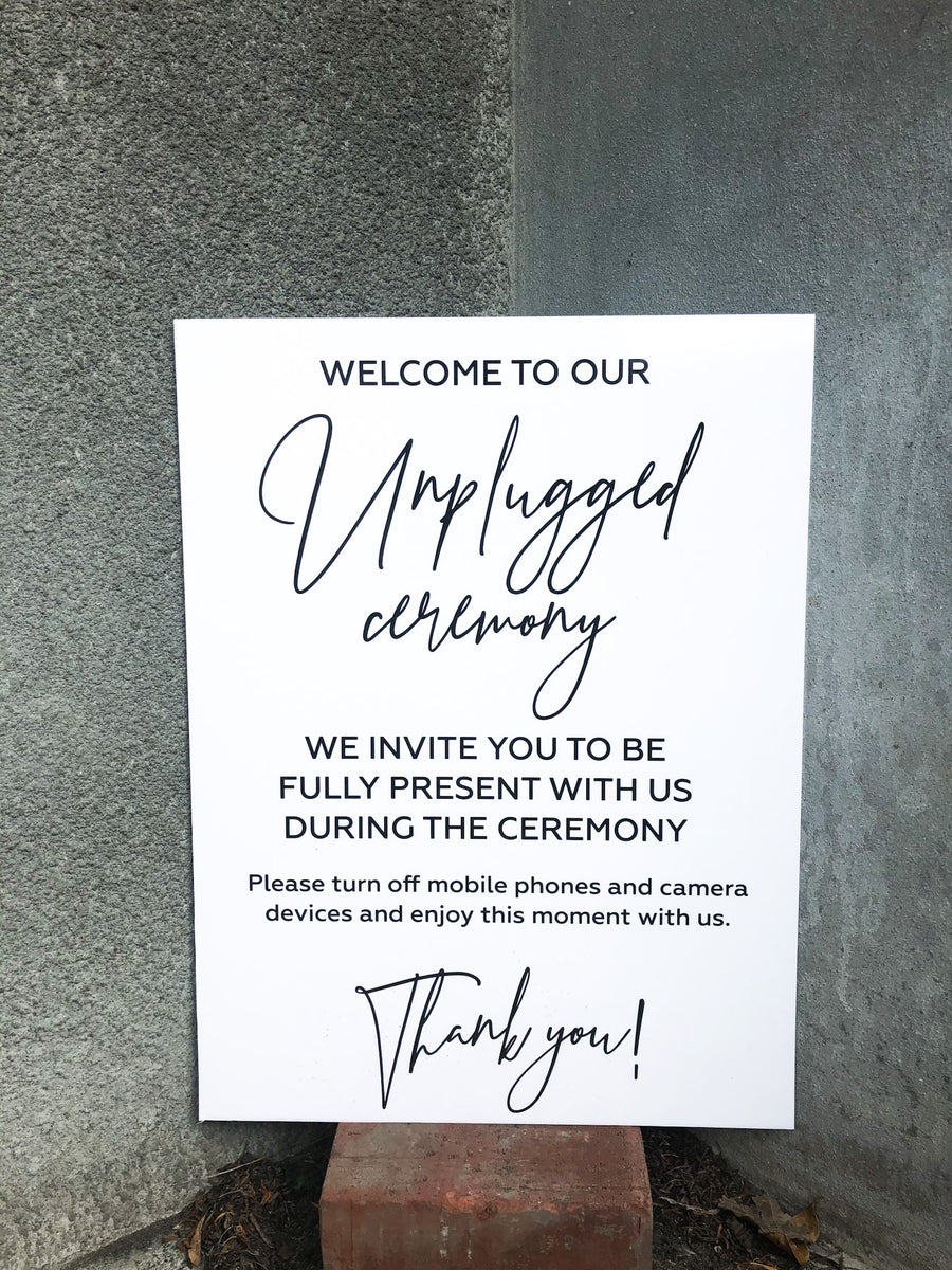 Printed - Prestige Unplugged Sign