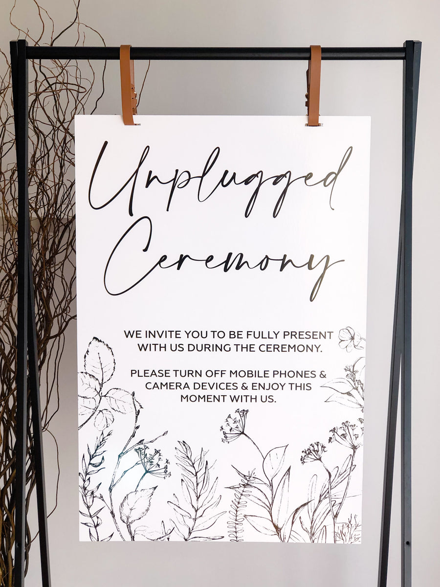 Printed - Amy Line Art Flora Unplugged Sign