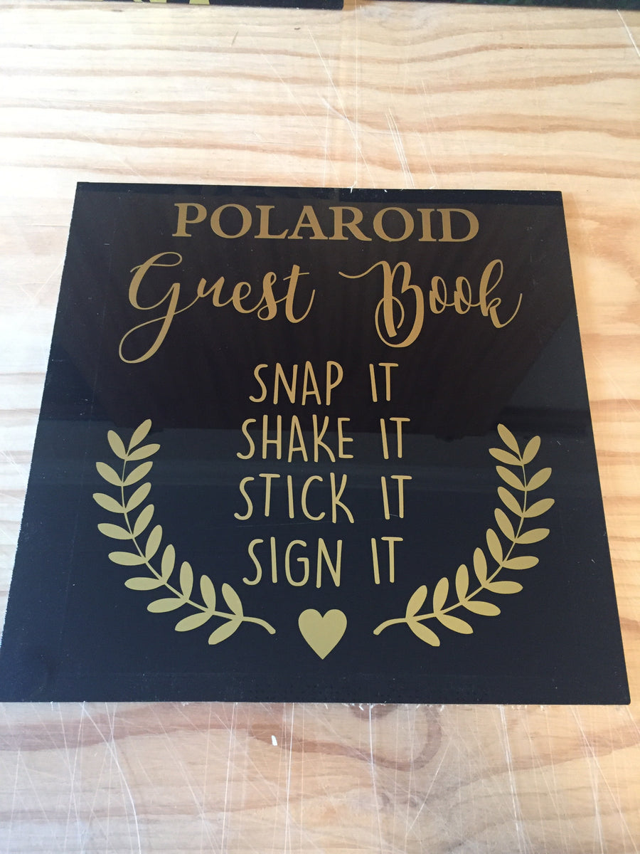 Acrylic Polaroid Sign- 3 colours