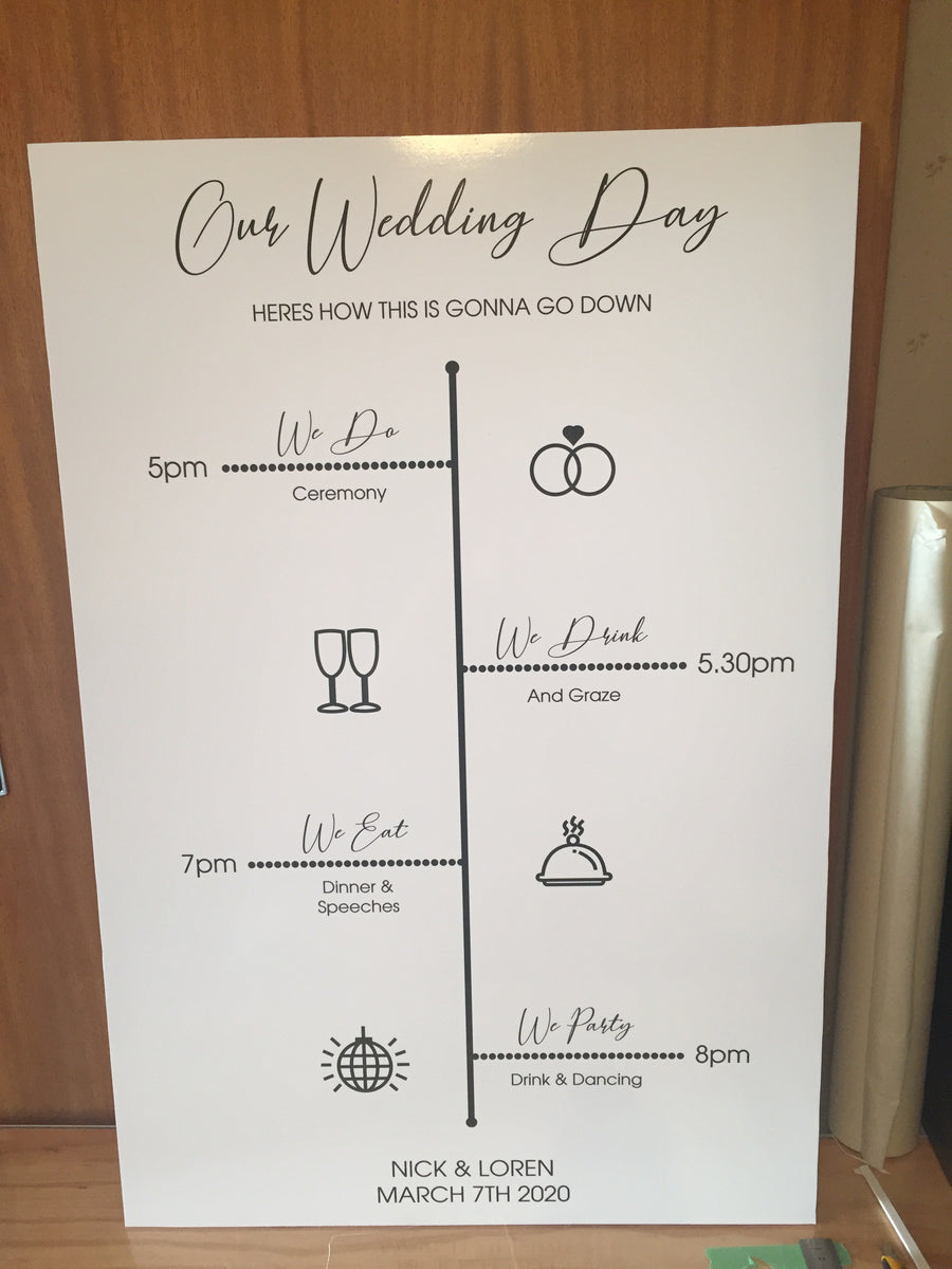 Printed - Wedding Itinerary