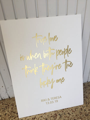 Personalised Quote - Your choice of wording 600x450mm