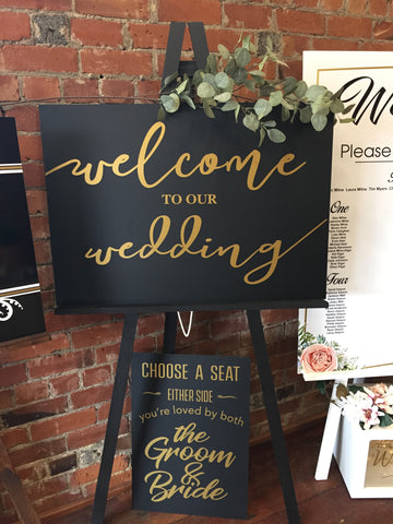 "Acrylic  -  ""Welcome to our Wedding"""