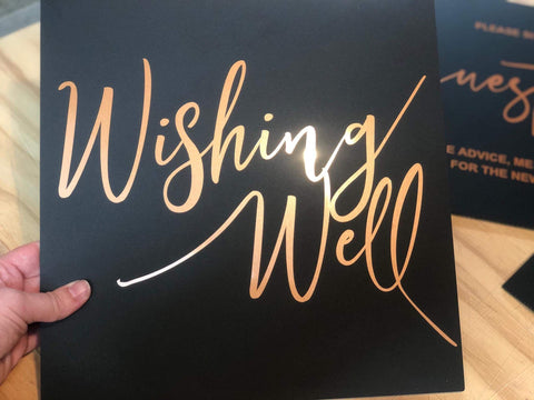 Acrylic - Wishing Well Sign- 3 colours
