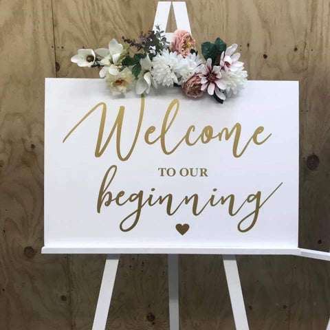 Chloe Acrylic Welcome Sign
