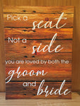"Choose Printed - ""Pick a seat"""