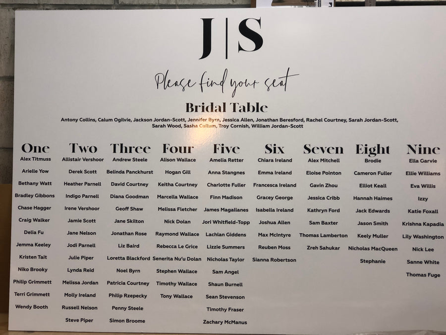 Printed - MADEN Seating chart