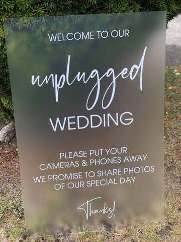 """unplugged"" Sign- BRAND NEW DESIGN"