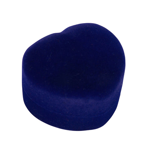 Ring gift box blue velvet heart