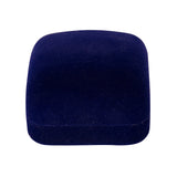 Ring gift box blue velvet square