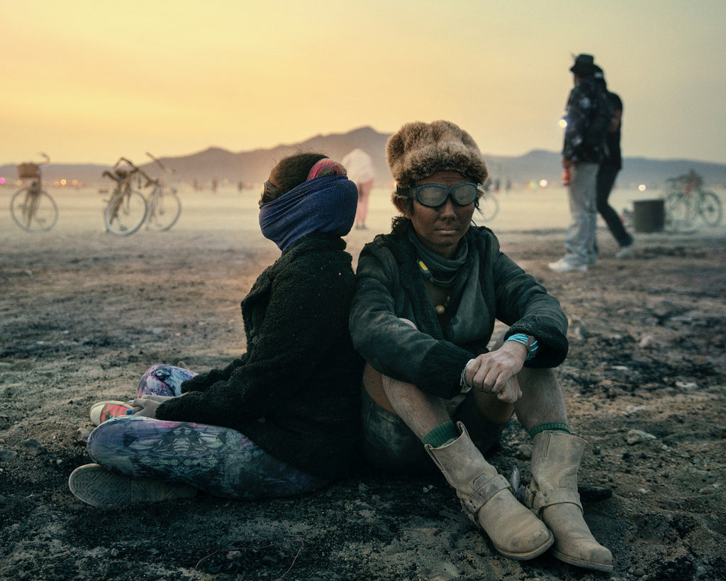 Sitting down at Burning Man