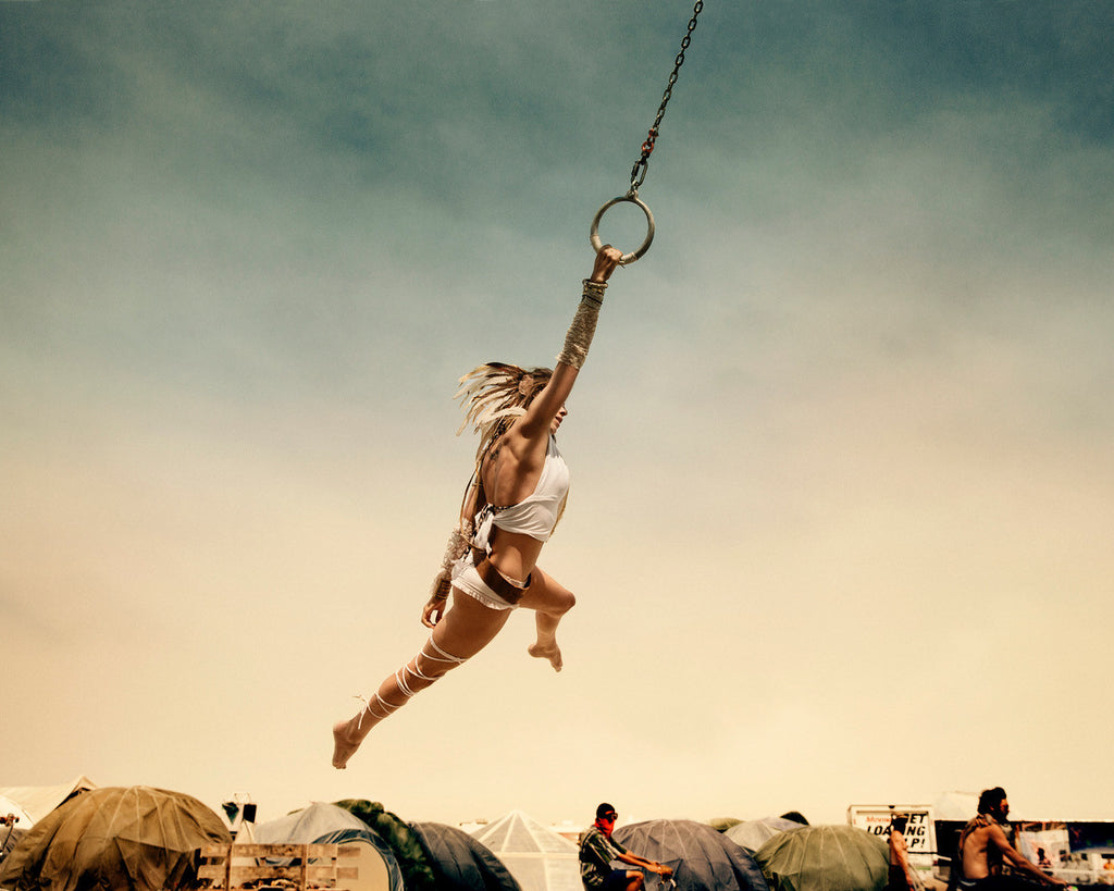 Burning man - flying woman