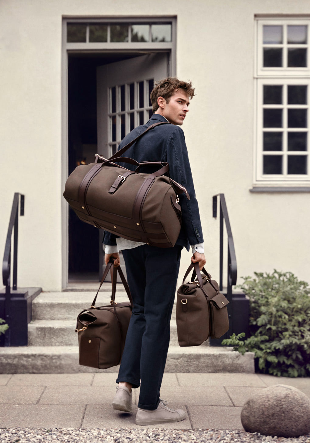 M/S Briefcase – Army/Dark brown collection 1