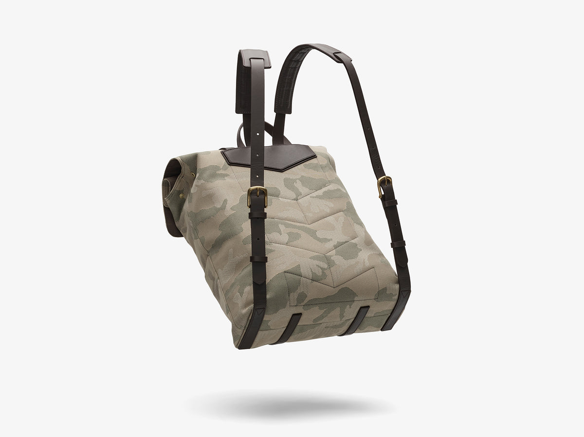 M/S Backpack – Sage Camo/Dark brown description image