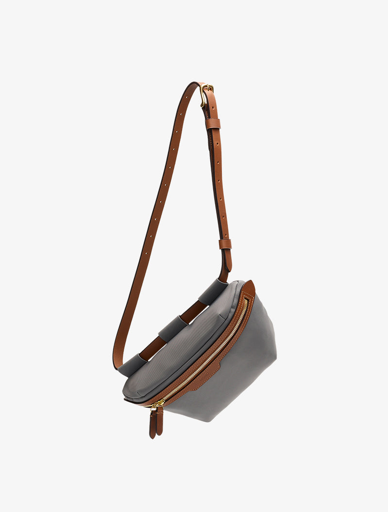 M/S Belt Bag - Concrete/Cuoio description image