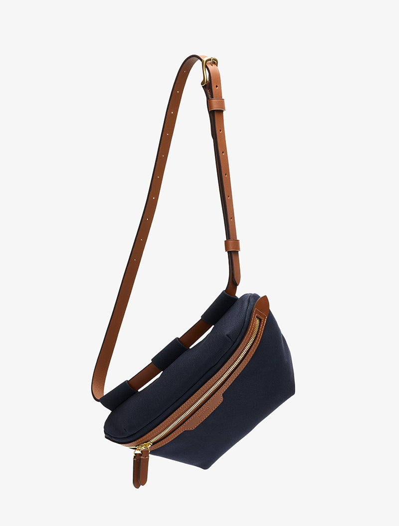 M/S Belt Bag - Midnight blue/Cuoio description image