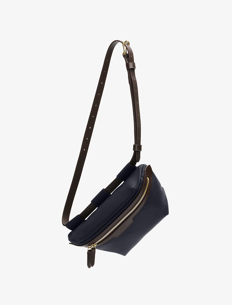 M/S Belt Bag - Navy/Dark brown description image