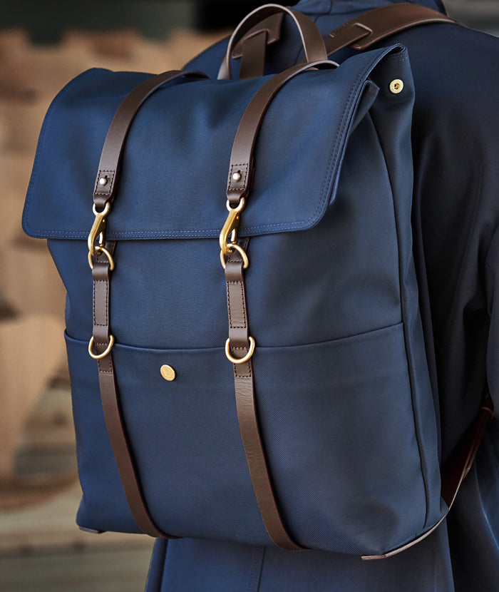 M/S Backpack – Navy/Dark brown feature image 4