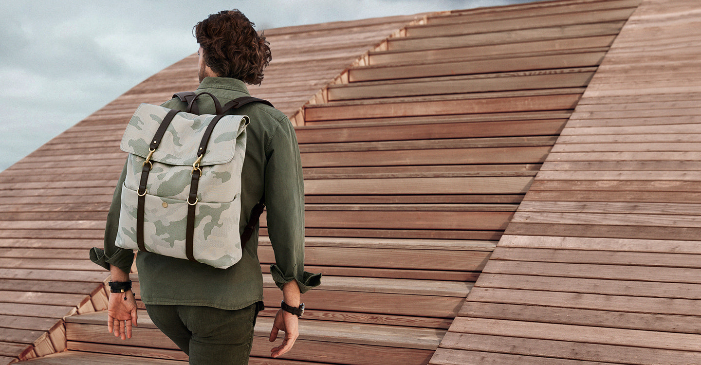 M/S Backpack – Sage Camo/Dark brown feature image 3