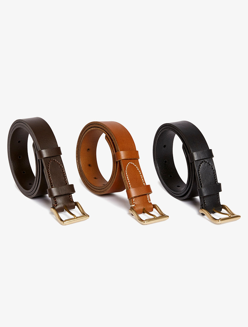 Classic Belt – Dark Brown description image