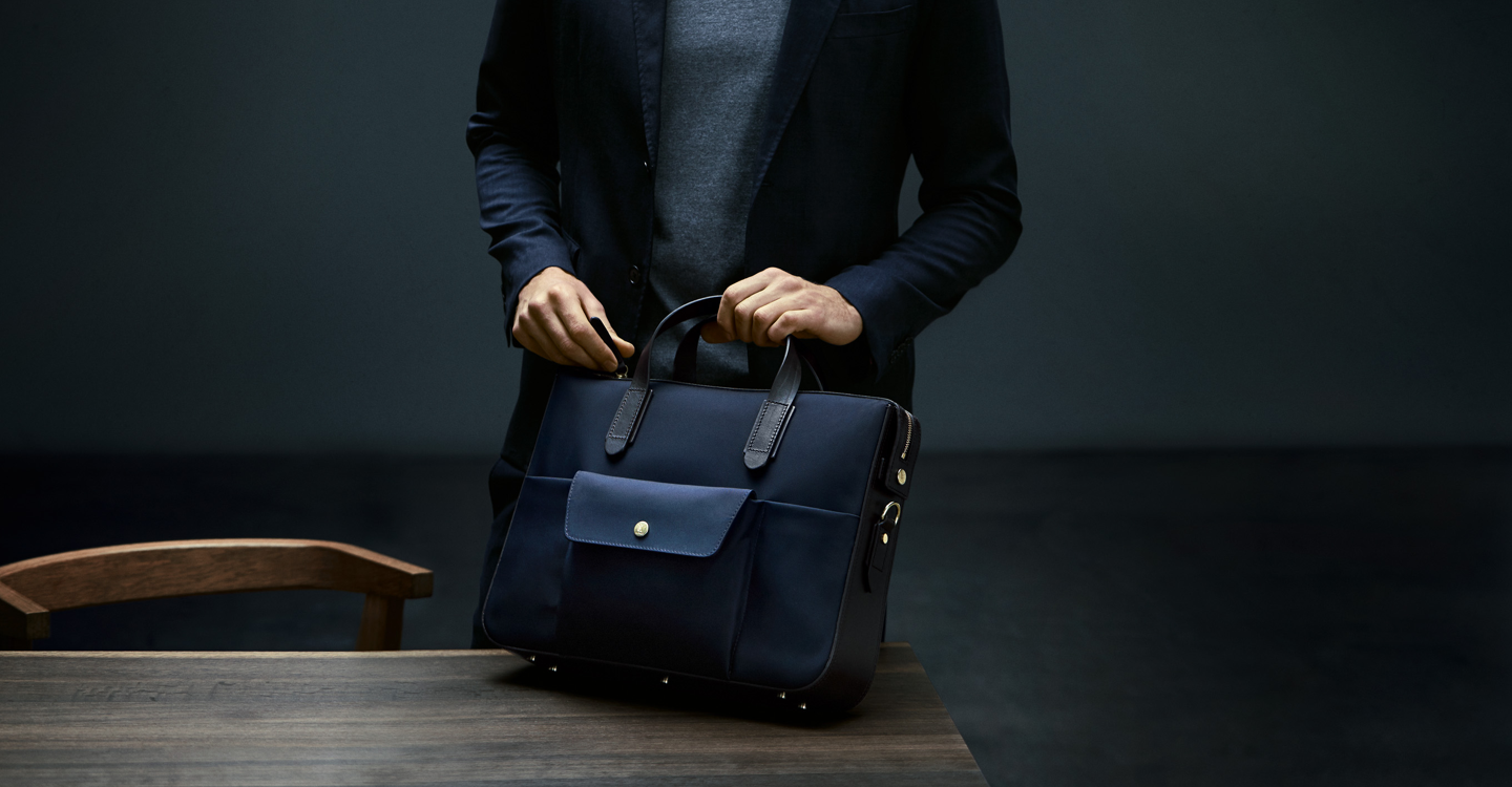 M/S Briefcase – Navy/Dark Brown feature image 3