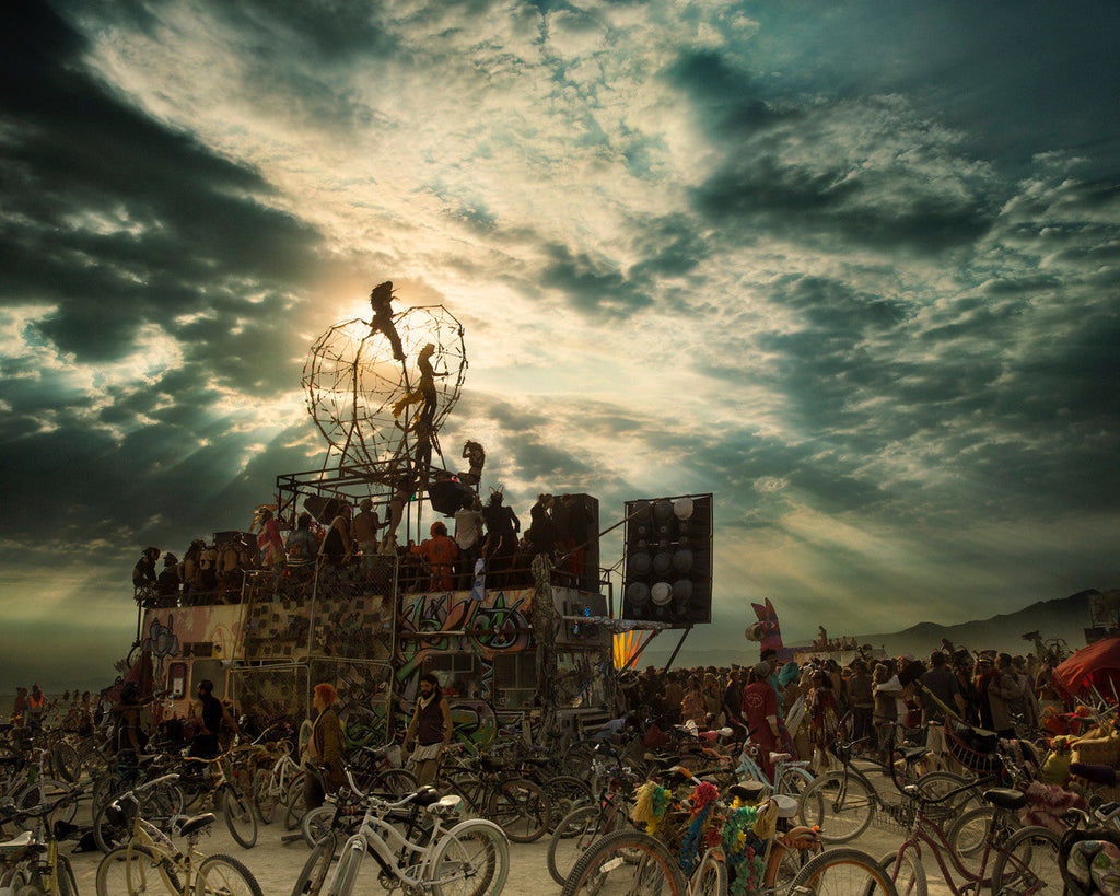 Burning man stage