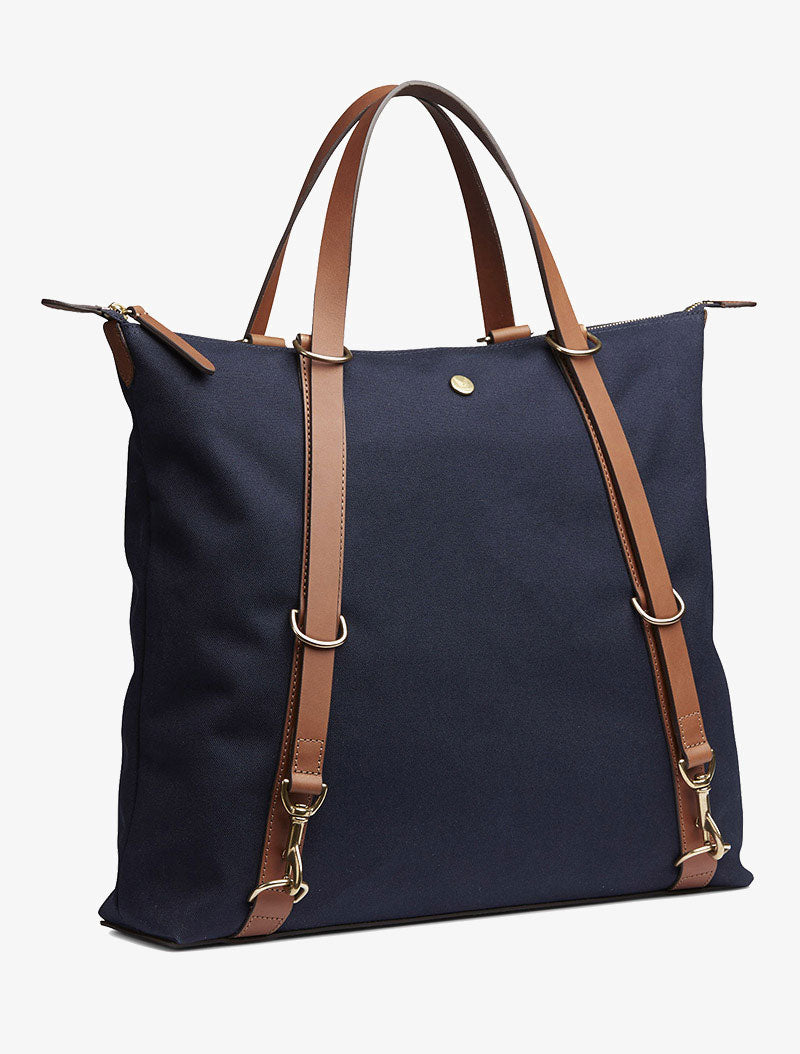M/S Day Pack - Midnight blue/Cuoio description image