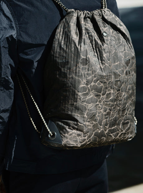 M/S Drawstring - Camo Jacquard/Black description image