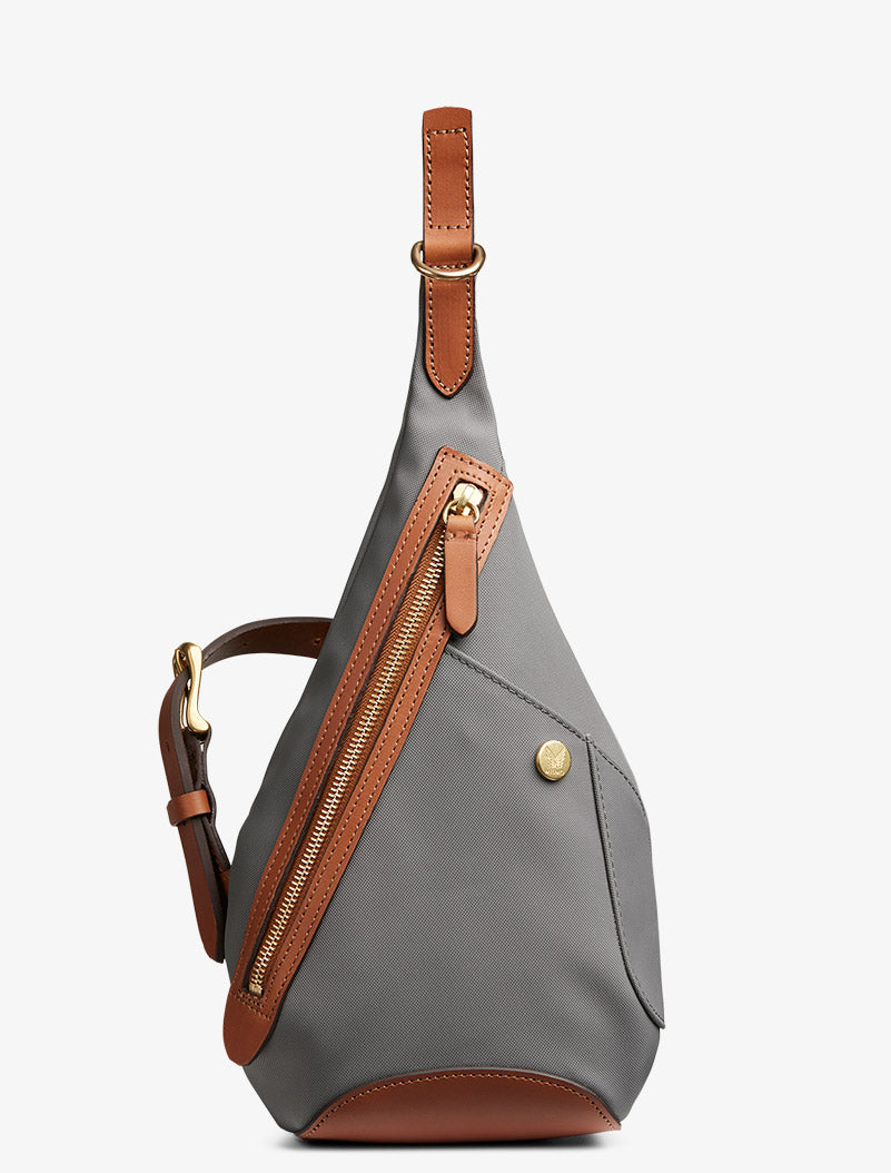 M/S Drop bag - Concrete/Cuoio description image